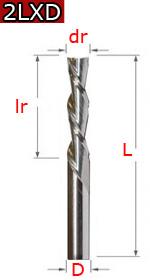 2LXD - двухзаходные стружка вниз