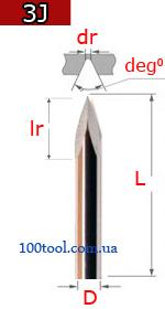 3J - граверы конические (пирамидка)
