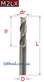 M2LX - двухзаходные для МДФ и ворсистого дерева