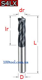 S4LX - твердосплавные четырехзаходные