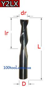 Y2LX - двухзаходные острая заточка для пластика